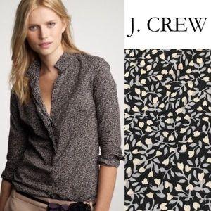 💎3/$25 J.Crew Floral Fan Placket Perfect Shirt